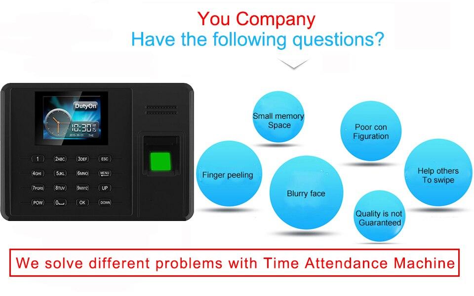 HTB1 FvDX.rrK1RkSne1q6ArVVXaB Eseye Attendance System Fingerprint TCPIP USB Password Office Time Clock Employee Recorder Device Biometric Time Attendance