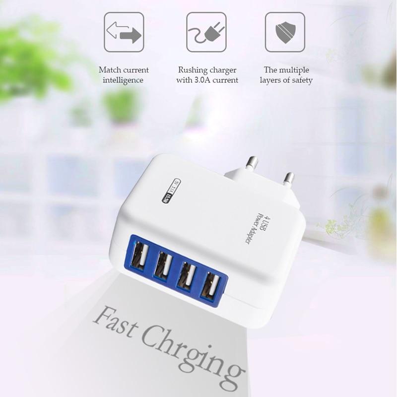Brorikoy USB Wall Charger Untuk iPhone 6 7 iPad EU Plug 4 Port 5 V 3A - Aksesori dan suku cadang ponsel - Foto 6