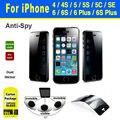 Anti spy privacidade protetor 9 h para iphone 4 4s 5 5s se 6 6 s 7 além disso frente shock-proof tela de vidro temperado anti-shatter protetora filme