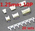 Micro JST 1.25mm T-1 10Pin Straight Connector Plug Female ,Male x 20 Sets
