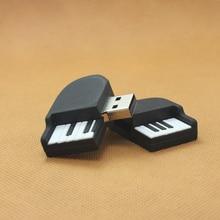 Новейшая USB флеш-накопитель форма пианино Флешка 8 ГБ 16 ГБ 32 ГБ 64 Гб USB диск USB 2,0 музыкальная ручка накопитель карта памяти u-диск модный подарок