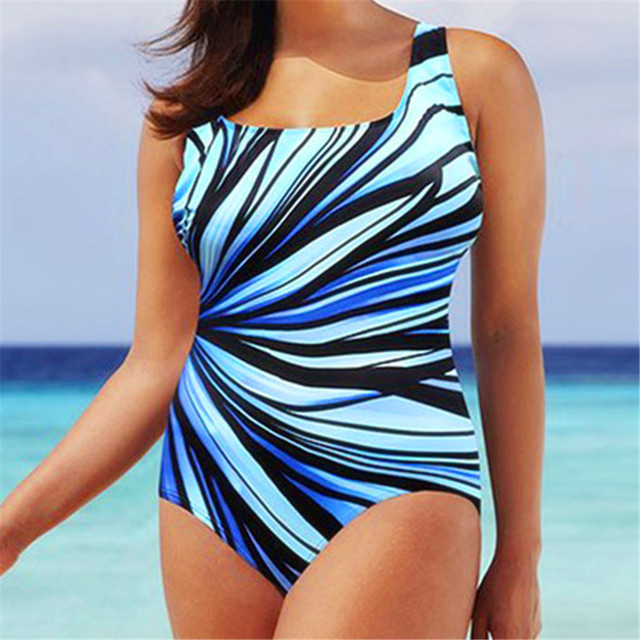 5XL Large Swimsuit One Piece Swimwear Women Plus Size Monokini One-piece Swimming Suit for Mujer Big Chest Retro XL 2XL 3XL 4XL 1