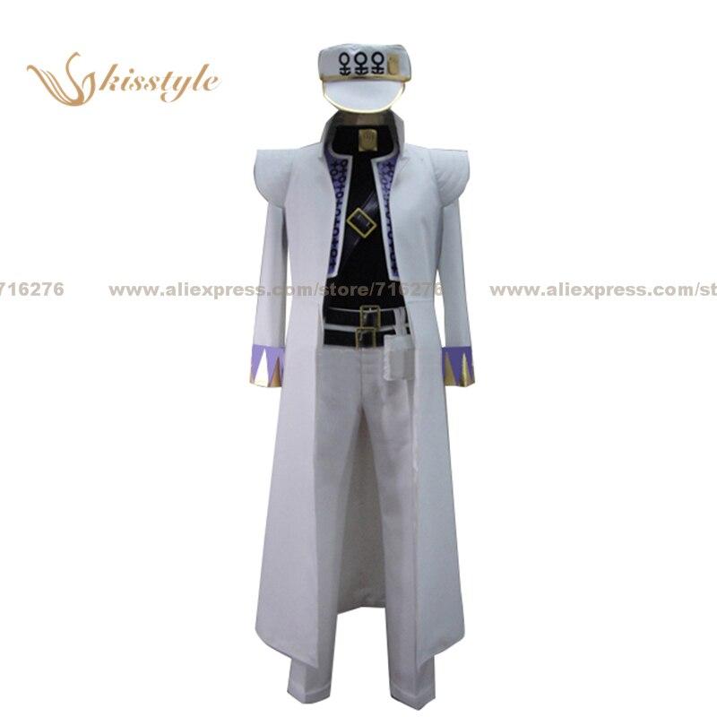 Kisstyle Fashion NEW JoJo je bizarní dobrodružství Jotaro Kujo Uniform Cosplay oblečení Cos kostým, přizpůsobený přijatý