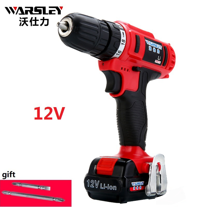 12v electric drill Batteries Screwdriver Like drilling machine Electric Tools mini electric drill Plastic box packaging