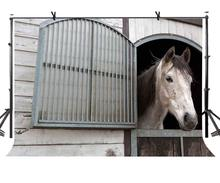 7x5ft Horse Backdrop Stable Animal Breeding Photography Background and Studio Props