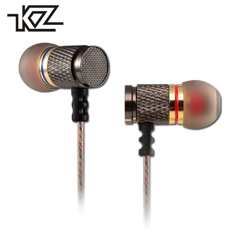 KZ ED2 Hifi con cable auriculares en la oreja Mini auricular para teléfono iPhone auricular con micrófono en el oído auricular PC