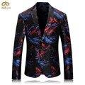 MIUK Большой Размер 3D Рыба Печати Костюм Блейзер Мужчины Бренд-одежда 4XL 3XL Высокое Качество Мужчины Blazer Slim Fit Блейзер Masculino 2017 Новый