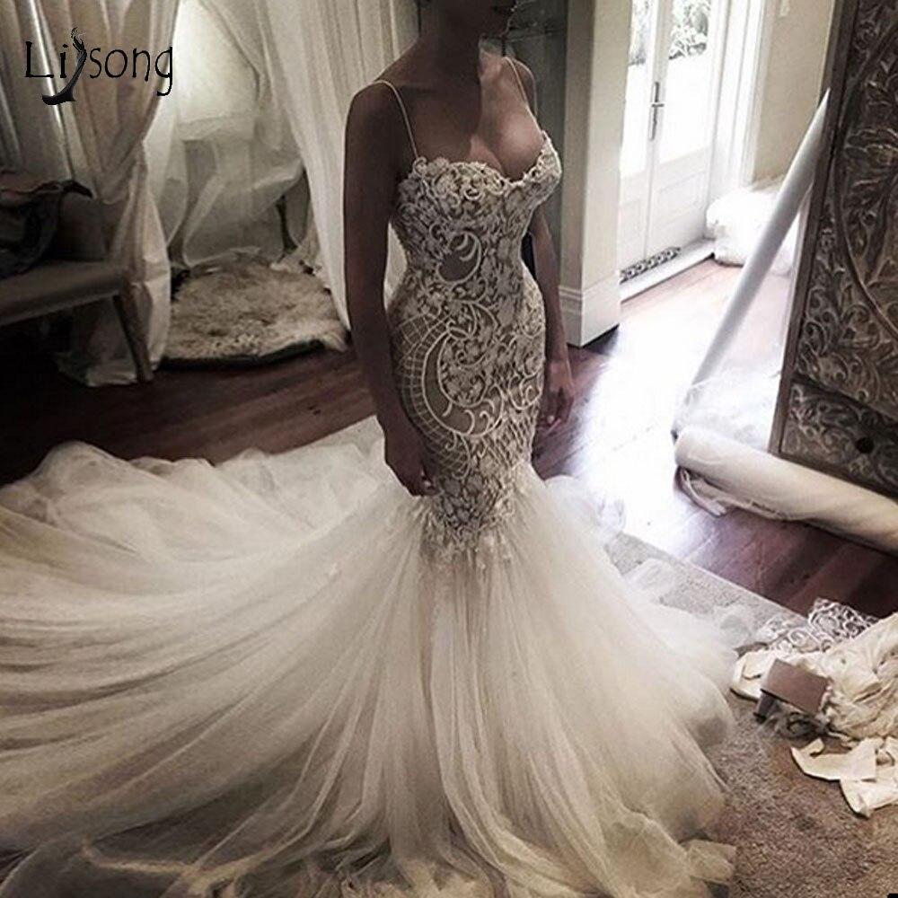 Stylish Wedding Gowns: Casamento 2019 Lace Mermaid Wedding Dresses Lush Tulle