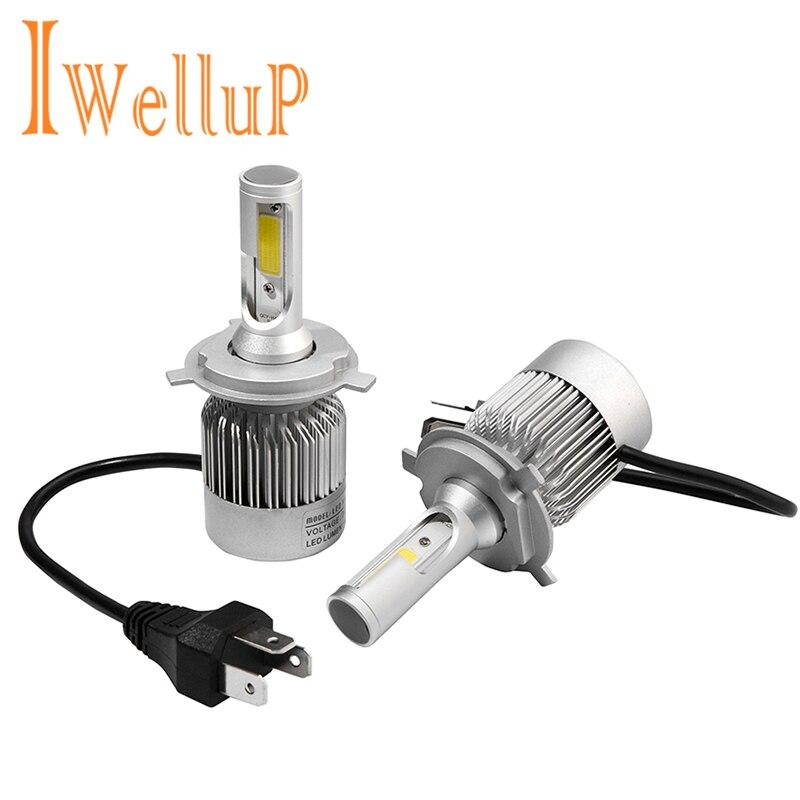 IWELLUP Phare De Voiture H7 H4 LED H8/H11 9005 HB4/9006 H1 H3 H13 9007 72 W 8400LM/set Auto Ampoule Projecteur Kit 6000 K Lumière Sourcing