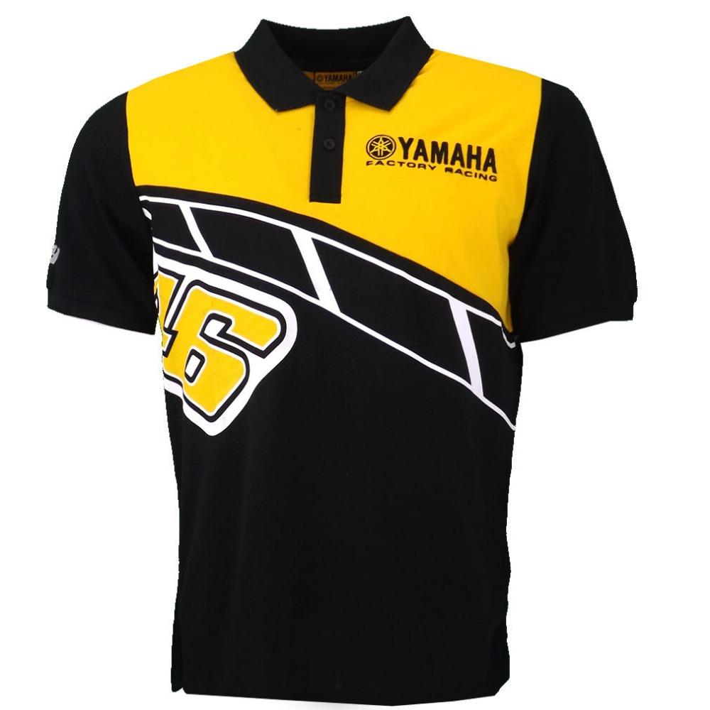 NEW 2017 Valentino Rossi VR46 Heritage Polo Shirt Moto GP Monza Cotton for Yamaha Poloshirt Yellow