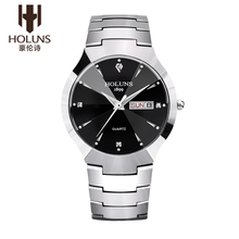 HOLUNS DM001 Watch Geneva Brand Authentic watches Thin fashion business men's diamond calendar tungsten quartz relogio feminino
