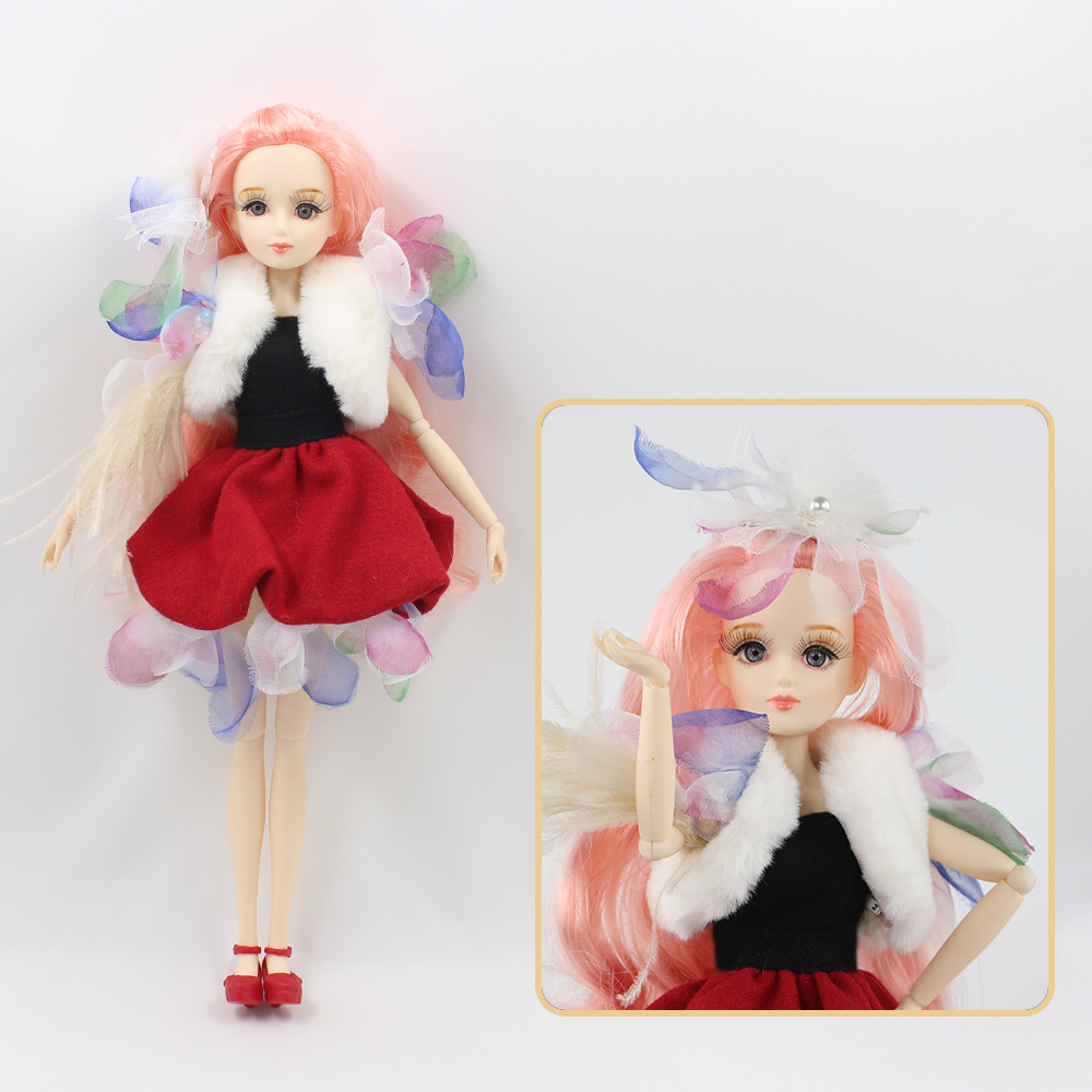 цены ICY Free shipping BLYTH bjd neo Fortune days fashoin lovely doll Xiaojing JOINT body pink hair dress box shoes stand toy gift