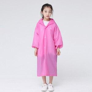 Image 5 - Keconutbear Fashion EVA Children Raincoat Thickened Waterproof Rain Coat Kids Clear Transparent Tour Waterproof Rainwear Suit