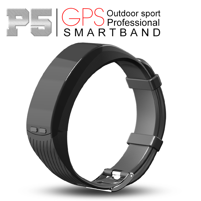 2pcs P5 Smart Bracelet GPS Location Outdoor Sports Band Heart Rate Altitude Barometer theromometer Temperature Measuring pk Y2