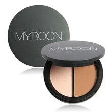 Highlight Bronzing Dou Powder Palette Highlighter and Bronzer Face Powder Velvet Whitening Texture in a Palette