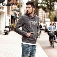 SIMWOOD 2018 Spring New Hoodies Men Fashion Hip Hop Sweatshirts Male Casual Letter Hoodies Plus Size