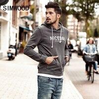 SIMWOOD 2019 spring New Hoodies Men Fashion Hip Hop Sweatshirts Male Casual Letter Hoodies Plus Size Brand Clothing WT017025
