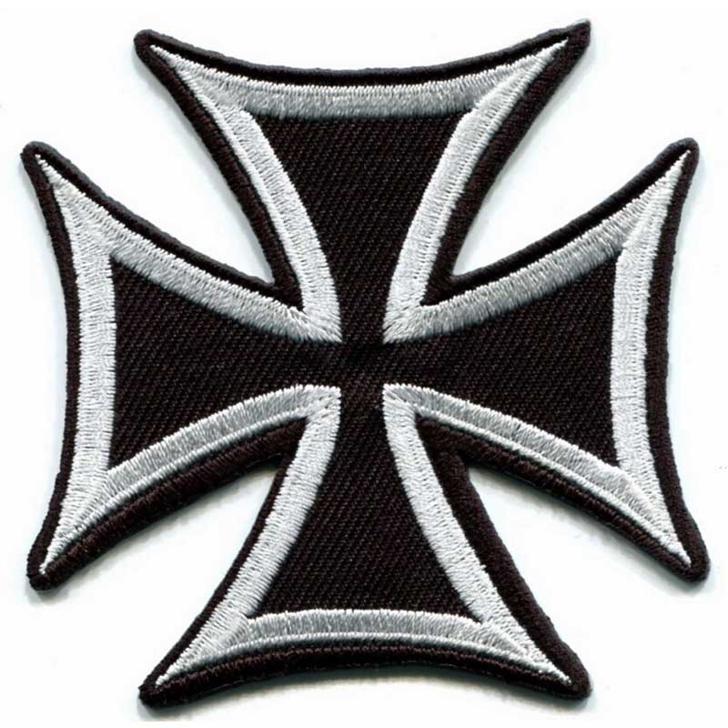 3 inches German Iron Cross military medal WW2 sew on war biker iron-on applique <font><b>patch</b></font> S-85