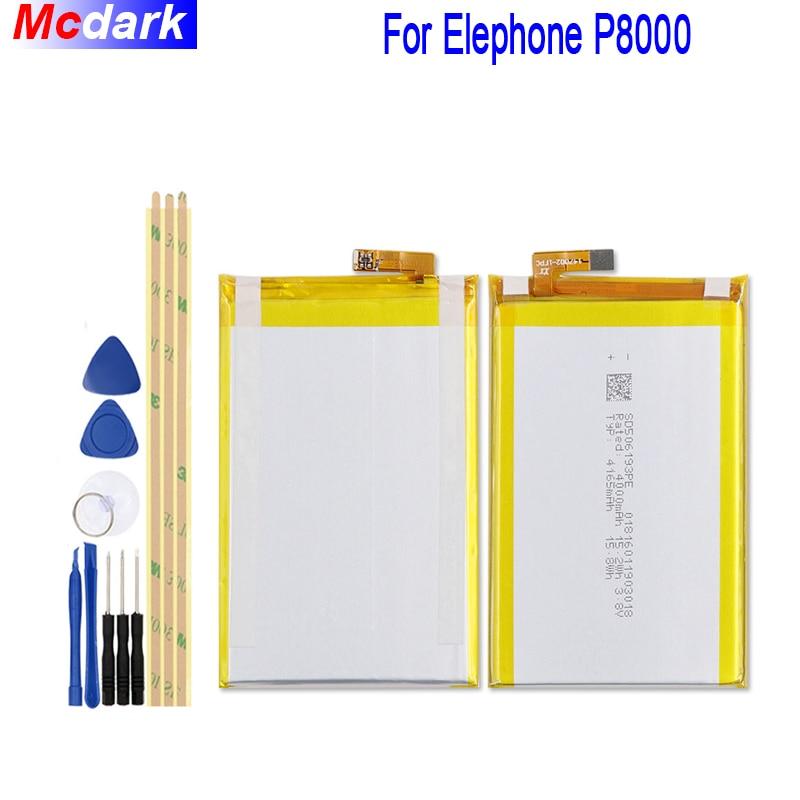 4165 mah Pour Elephone P8000 Batterie Bateria Accumulateur + Outils