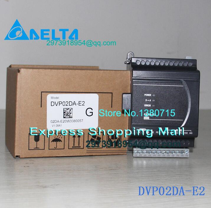 New Original DVP02DA-E2 24VDC 2AO Delta PLC Analog module ES2 series dvp04da e2 delta es2 ex2 series analog i o module ao 4 new in box