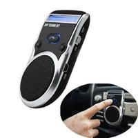 Solar Powered LCD Display Bluetooth Car Kit Handsfree Calling Device Speaker