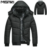 New Fashion Hood Black Winter Jacket Men Warm Coat Parka Men