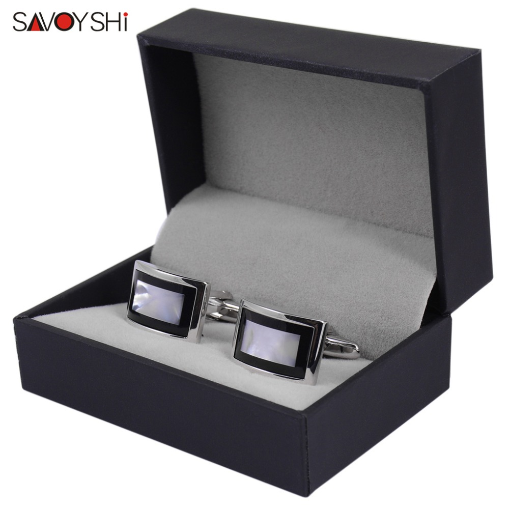 SAVOYSHI Luxury Shell Cufflinks for Mens Shirt Brand Cuff bottons High Quality Square Wedding Cufflinks Fashion Gift Men JewelrySAVOYSHI Luxury Shell Cufflinks for Mens Shirt Brand Cuff bottons High Quality Square Wedding Cufflinks Fashion Gift Men Jewelry