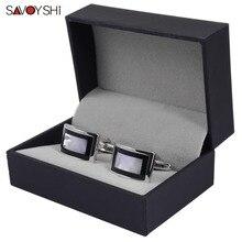 SAVOYSHI Luxury Shell Cufflinks for Mens Shirt Brand Cuff bo