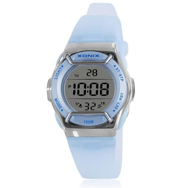 New Fashion XONIX Brand Children Sports Watches LED Digital Military Watch Boy Girl Student Woman Multifunctional Wristwatches
