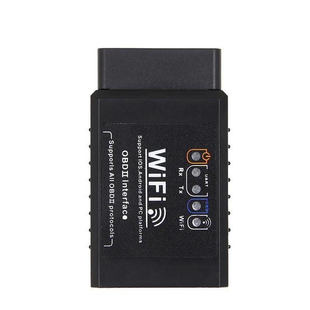 Automotriz V1.5 ELM327 wifi para coche OBD2 OBDII herramienta de escaneo escáner adaptador comprobar la luz del motor herramienta de diagnóstico negro