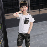Baby Boy Clothes Set 2018 Summer Kids Children Clothing Short Sleeve Shirt Print Shorts 2pcs Suit