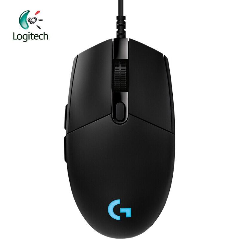 Logitech Original G Pro souris de jeu souris filaire professionnelle avec PMW3366 12 K & HERO 16 K en option RGB pour e-sports Gamer en utilisant