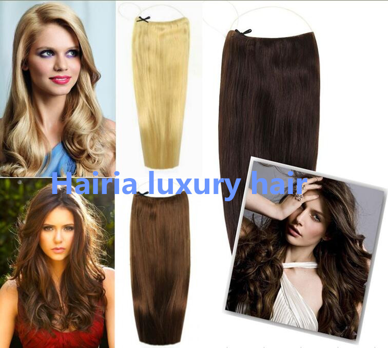 16 32inch 180g Natural Human Hair Extensions Flip In Hair Press With
