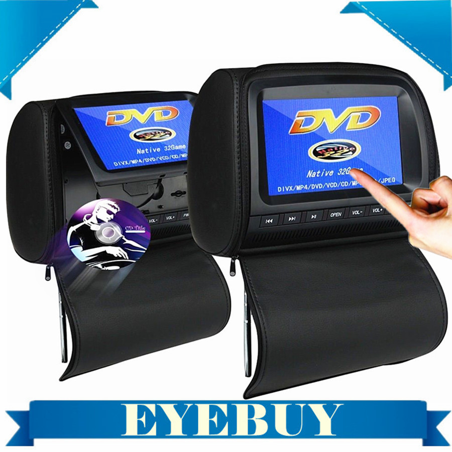 Universal 9 inch SONY LENS Auto Car Headrest DVD Game Player Monitor Pillow Touch screen USB