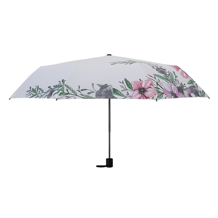 Sugar Skull Automatic Tri-Fold Umbrella Parasol Sun Umbrella Sunshade