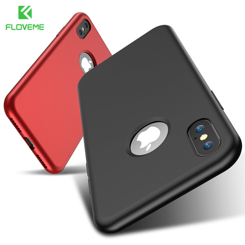 FLOVEME Original Case For iPhone X 8 7 Plus Luxury Silicone Cases For iPhone 6 6s Plus Mobile Phone Accessories For iPhone Cover