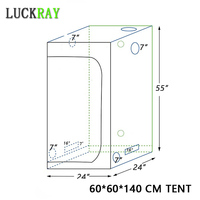 grow tent indoor Hydroponic greenhouse 60*60*140mm Room Box Plant Growing, Reflective Mylar Non Toxic Garden Greenhouses