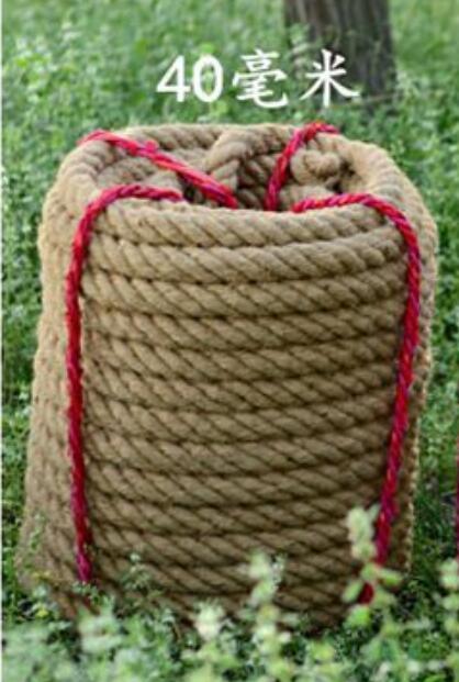 30m Sisal Tug Of War Rope Thicken Team Competition Rope hemp cord hemp rope