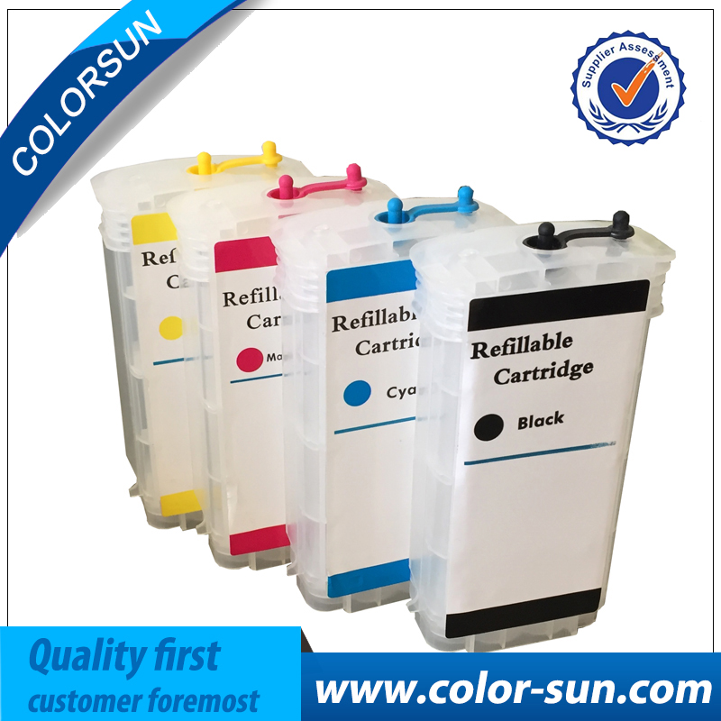 For HP10 for HP 82 130ML 4Colors Refillable cartridges with arc chip for HP Designjet 500 500ps 800 800ps 820mfp 815mfp printer free shipping t0540 t0549 refillable ink cartridges with arc chip for epson photo r800 r1800 printer