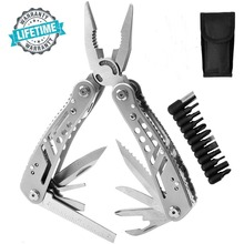 Multitool 24 in 1 Pocket Multi Tool Plier Knife Kit Heavy Duty Stainless Steel Multi-purpose Tool for Hunting Hiking Camping