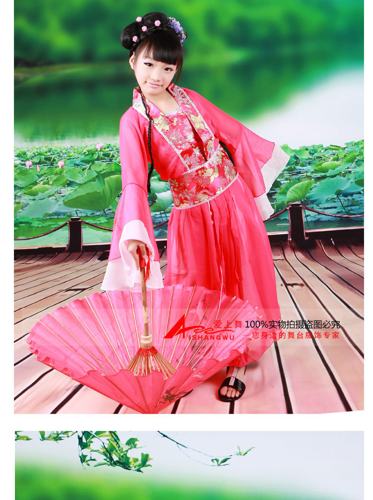 Novelty & Special Use Stage & Dance Wear New Hot Chinese Kids Ancient Fairy Princess Dramaturgic Show Costume Robe Dress Classical Dance Costumes For Childrens Day