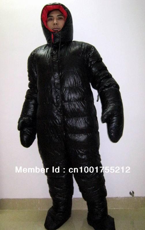 Shiny Glossy Nylon Wetlook Down Suit Down Jacket Down Coat