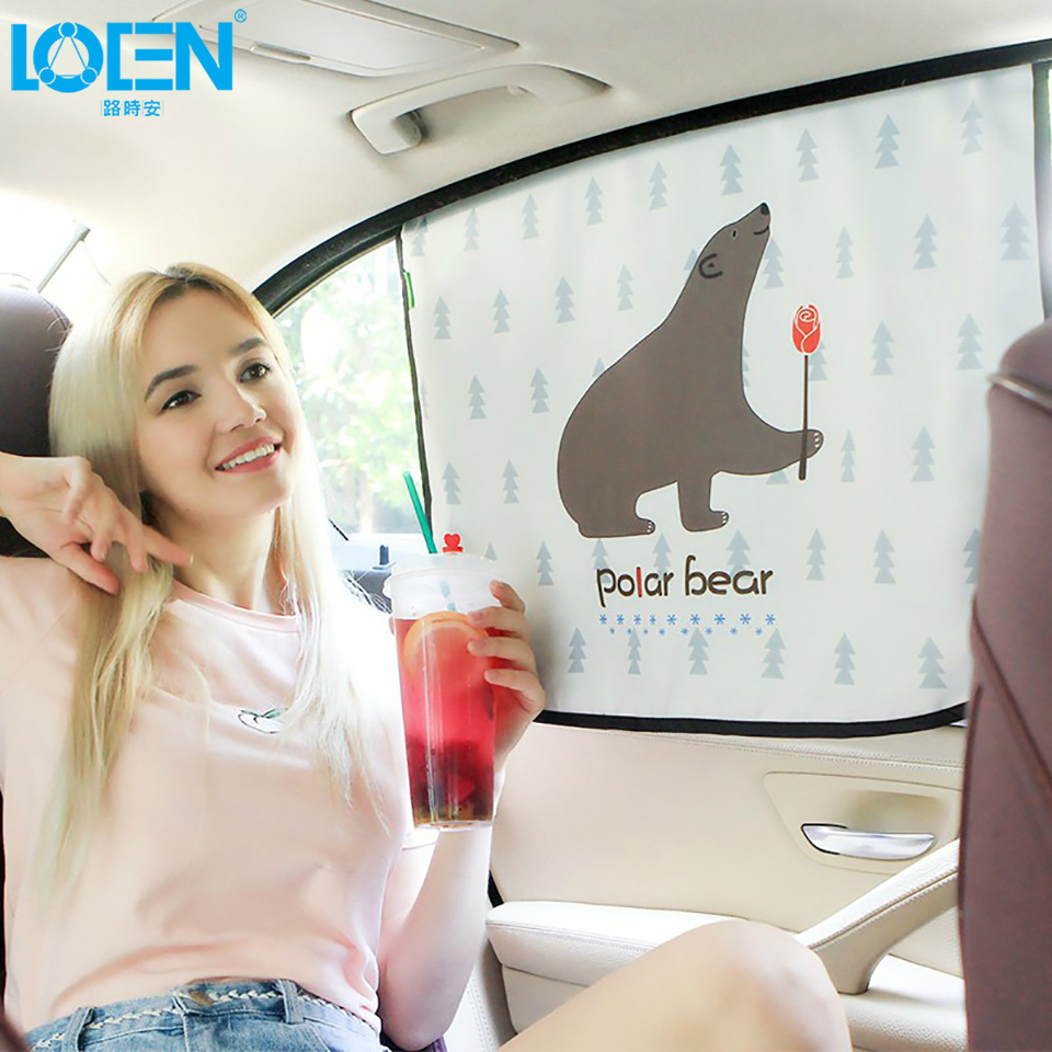 60*45cm Animal Polar Bear/Deer/Duck Car Side Window Magnetic Sunshade UV Protection For Children Kids Sunscreen Curtain купить в Москве 2019