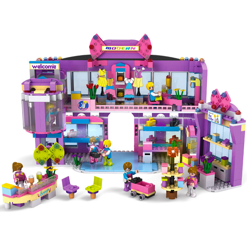 COGO City Dream Girls Princess Clothes Mall Building Blocks Sets Bricks Model Kids Gifts Toys Compatible Legoings Friends