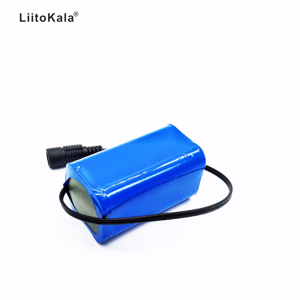 LiitoKala <font><b>7.4V</b></font> 8.4V <font><b>4400mAh</b></font> <font><b>Battery</b></font> Pack 18650 <font><b>Battery</b></font> 4.4Ah Rechargeable <font><b>Battery</b></font> For Bicycle Headlights/CCTV/Camera/Electric image