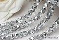 5040 ААА Полу-покрытием Серебристого Цвета Свободные Хрусталя Rondelle beads.2mm 3 мм 4 мм, 6 мм, 8 мм 10 мм, 12 мм Бесплатная Доставка!