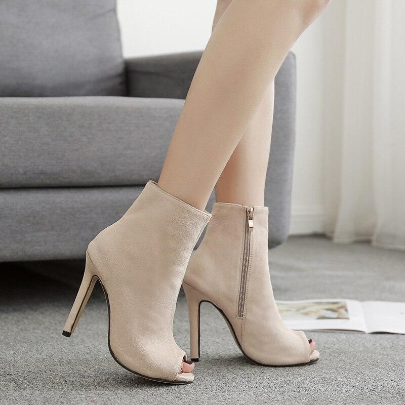 2018 női bokalátét peep toe nyár tavaszi ősz magas sarkú 10,5 - Női cipő