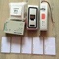 Металл и водонепроницаемый отпечатков пальцев и е . м . rfid-карт биометрические контроллер комплекты электрический замок болт + переключатель