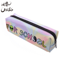 Who Cares Too Cool For School 3D Printing Convenient Travel Makeup Organizer Creative Make up Pencil Bags Women Cosmetic Bag