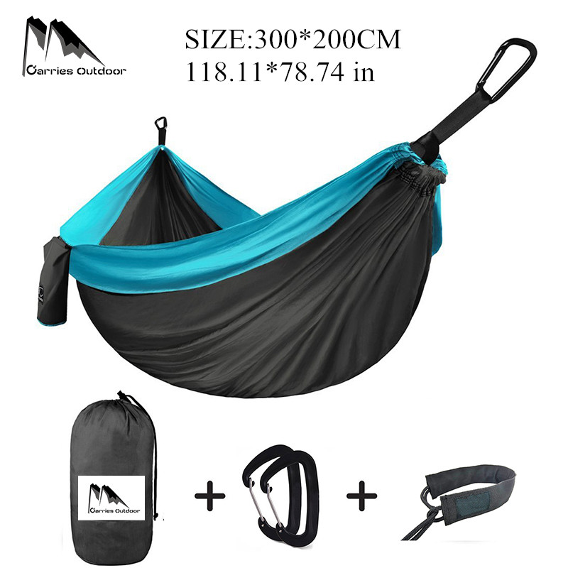 ARRIES Portable 13 Color Nylon Garden Hammock Climbing Travel Parachute Survival Hanging Bed HM006 survival nylon bracelet brown